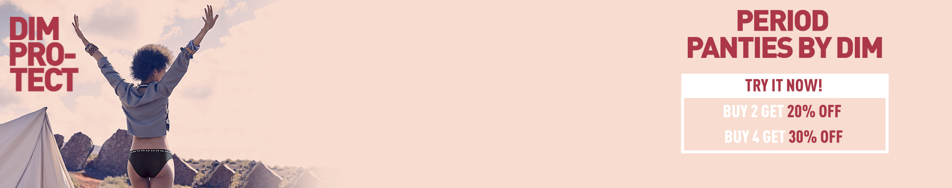 Culottes Menstruelles - La nouvelle culotte de règle DIM Protect !